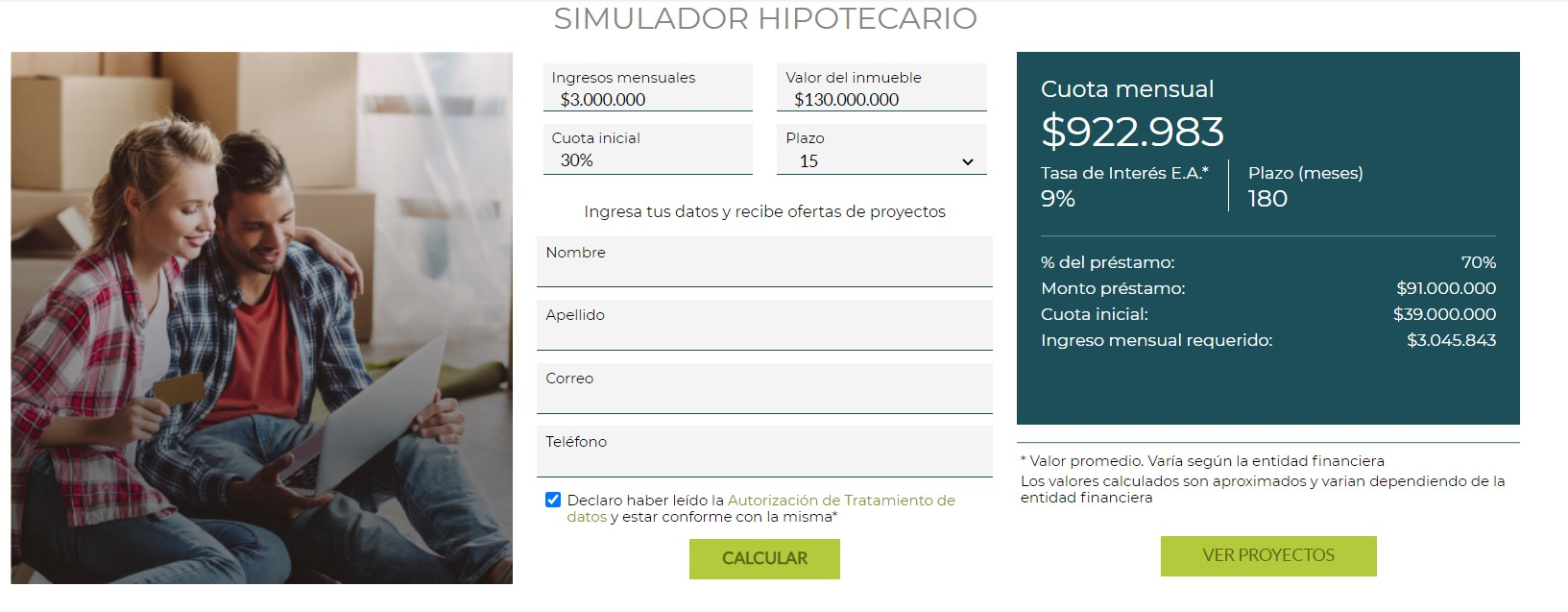 CONOCE COMO FUNCIONA EL SIMULADOR HIPOTECARIO