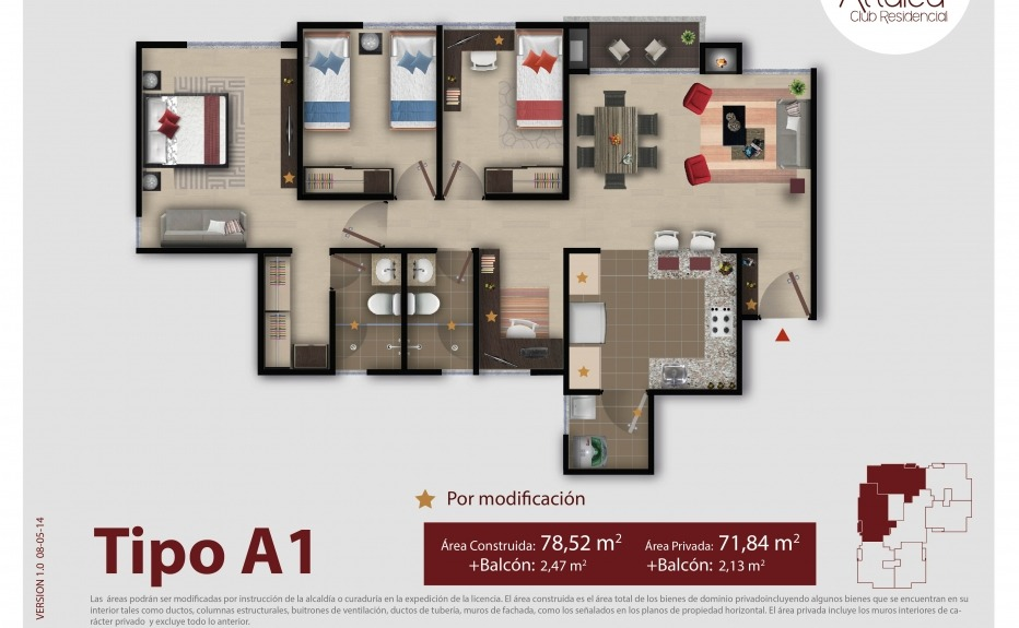 ATTALEA CLUB RESIDENCIAL plano 1
