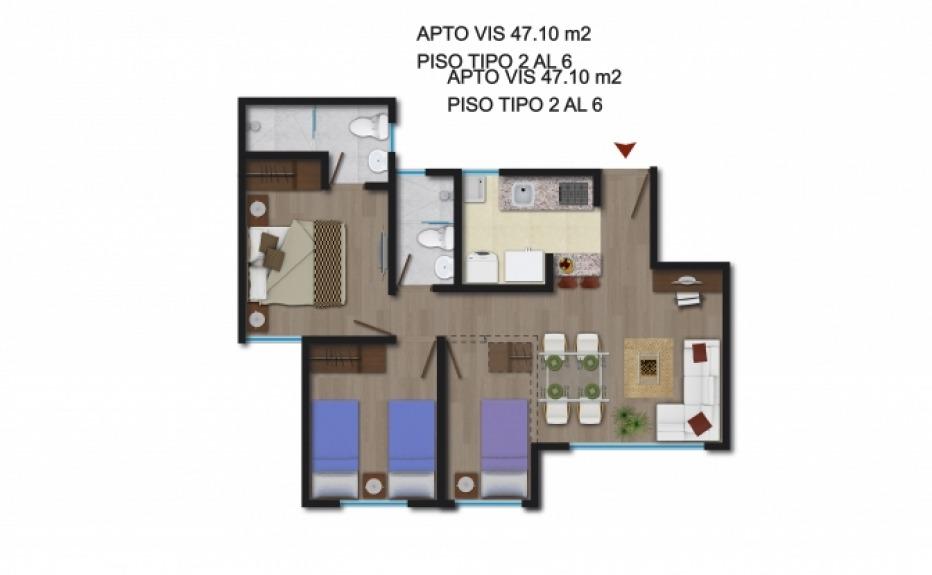 PUERTA DEL SOL (CLUB HOUSE) plano 1