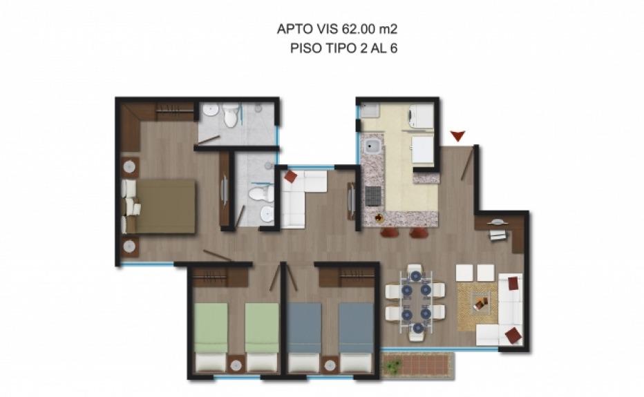 PUERTA DEL SOL I (CLUB HOUSE) plano 1