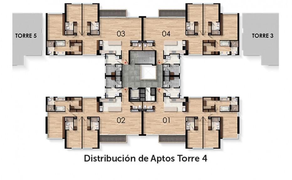 TORRELADERA BOSQUE RESERVADO APTOS TORRES 4 Y 5 plano 3