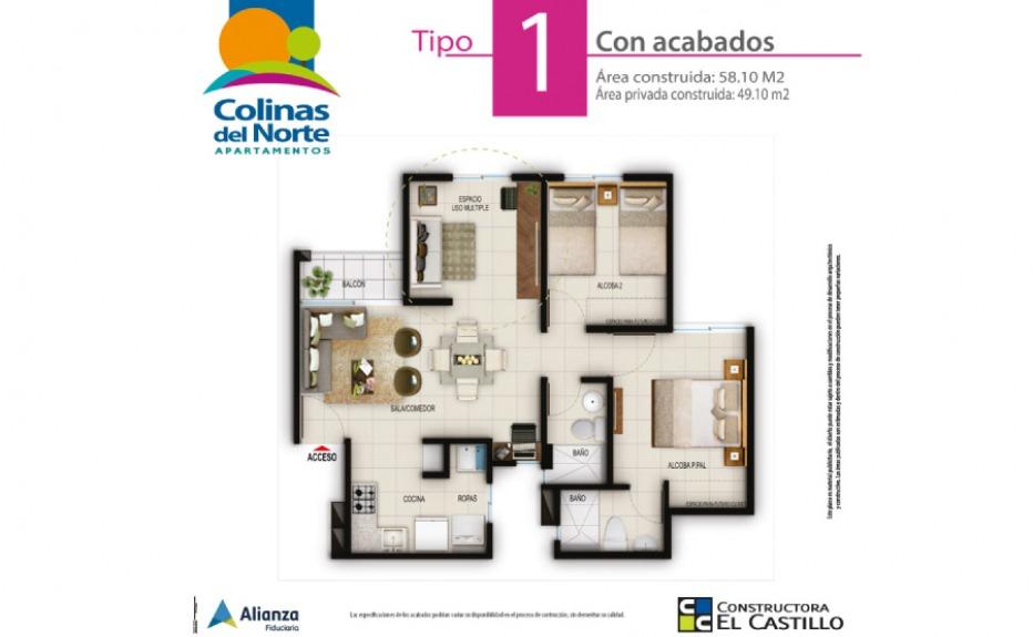 COLINAS DEL NORTE plano 2