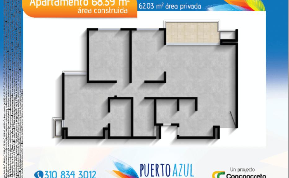 PUERTO AZUL plano 2