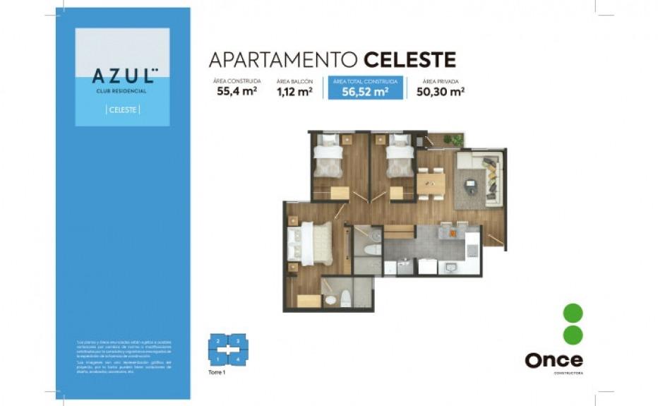 AZUL CLUB RESIDENCIAL CELESTE plano 1