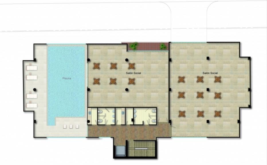 PUERTA DEL SOL (CLUB HOUSE) plano 3